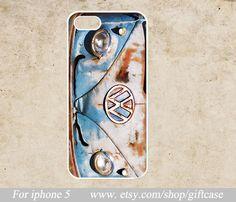 Iphone 5 Case -Volkswagen Minibus   Iphone  Case - Iphone5 case - Hard Plastic,Personalized Covers