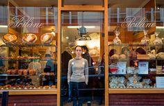 Apollonia Poilâne, at the bakery that her grandfather opened in 1932, at 8 Rue du Cherche-Midi.