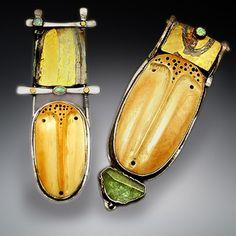 Patricia McCleery, jewelry artist. | Asymmetric earrings | Pinterest