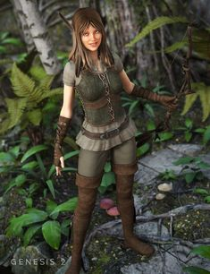 Ranger Outfit for Genesis 2 Female(s)