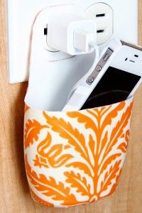 Holder for Charging Phone (made from lotion bottle)