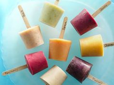 fresh fruit frozen yogurt pops...