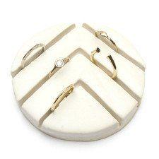 - ceramic jewelry display for rings - 3.5 inch diameter - handmade in nyc