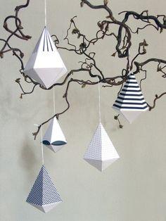 DIAMANT.PATTERN Papierdeko Bastelbögen falten von noumonda www.noumonda.de | paper diamonds