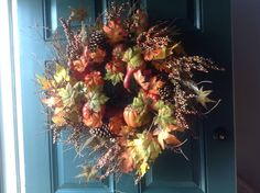 Fall wreath from Costco