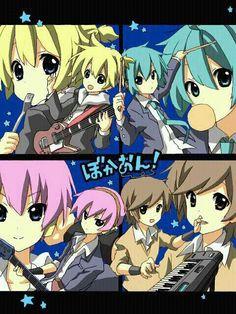 Len, Mikuo, Luki, and Meito