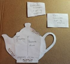 We can use cardboard and fabric scraps with make this fresh holder for teabags or coffee bags. Materials you may need: Cardboard Fabric scraps and ribons Teapot pattern Scissors Knife Glue Diy And Crafts, Crafts For Kids, Paper Crafts, Paper Tea Cups, Fabric Scraps, Diy Tutorial, Decoupage Tutorial, Tea Party, Alcoholic Drinks