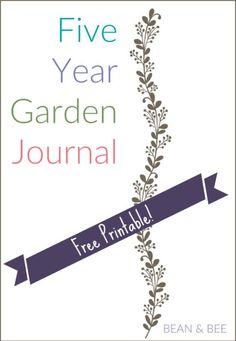 free garden journal printables garden planning layout