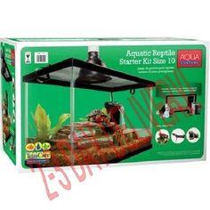 10 Gal Reptile Tank Habitat Aquarium Setup Newts Turtles Frogs Supply 2Day Ship! #Aqua