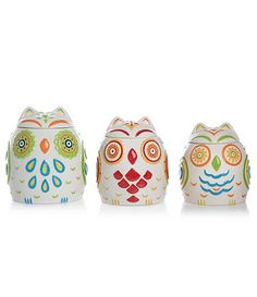 Owl canister set. Available at Dillards.com #Dillards