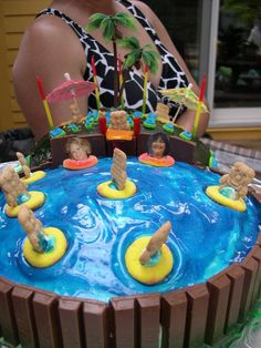 Beach Party Birthday Cake