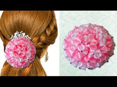 DIY for Girls : Beautiful Satin Ribbon Flower to Decorate Anything | Kanzashi Hair Accessories - YouTube