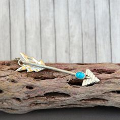 Sweet arrow pendant with Sleeping Beauty Turquoise.  Aim High.  Aim True.