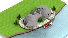 """Строительство быстровозводимых домов. Проект каркасный купольный дом 3v5.8+рейзер. Строительство каркасно купольных домов и коттеджей из дерева от ООО """"Сакралис""""."""