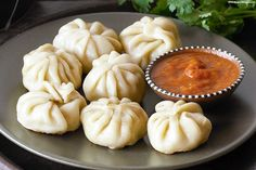 Chef designed momos served with his secret recipe sauce that is a hit among the momos lovers