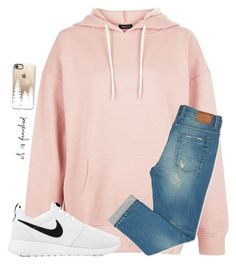 """I realized that I have no large hoodies "" by christyaphan ❤ liked on Polyvore featuring New Look, Casetify and NIKE"
