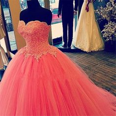 Find More Quinceanera Dresses Information about 2017 New Coral Puffy Lace Quinceanera Dresses Ball Gown Organza Beaded Appliques Sweet 16 Dress Vestidos De 15 Anos QA1215,High Quality dress floor,China dress suits for sale Suppliers, Cheap dress crinoline from Bealegantom Wedding Flagships Store on Aliexpress.com