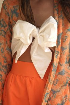 Grey, coral and a bow top- officially in love