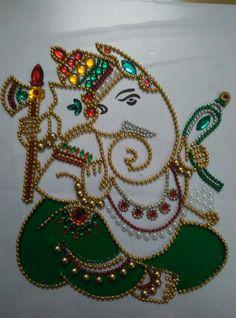 Sri Ganesh..... Ganesha Painting, Tanjore Painting, Ganesha Art, Sri Ganesh, Mandala Painting, Diwali Decorations, Festival Decorations, Wedding Decorations, Diwali Craft