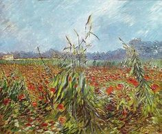 "Vincent van Gogh, ""Field of Poppies"", 1890"