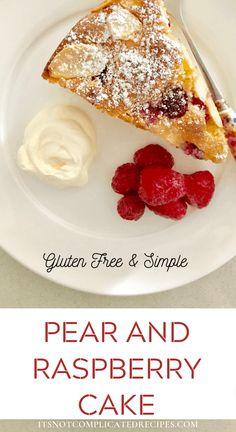 Gluten-Free Pear and Raspberry Cake Glutenfreier Birnen- und Himbeerkuchen Raspberry Recipes, Pear Recipes, Raspberry Cake, Best Dessert Recipes, Sweet Recipes, Baking Recipes, Muffin Recipes, Cupcake Recipes, Vegetarian Recipes