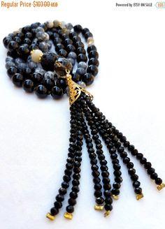 SALE Gemstone Mala, Mala Neclace, Chakra Necklace, Crystal Necklace, Party Necklace, Pride Jewelry, Howlite Necklace, Boho Chic Jewelry, Mal