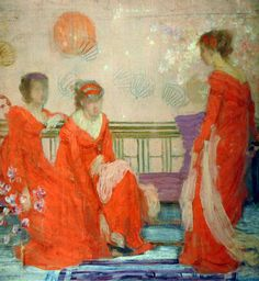 James McNeill Whistler - Harmony in Flesh Colour and Red, 1869 Boston Museum of Fine Arts