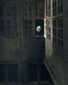 huariqueje:  Windows - Hammershoi, Vilhelm   Danish 1864-1916