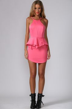 HelloMolly | Say Something Dress Pink - Party Dresses - Dresses