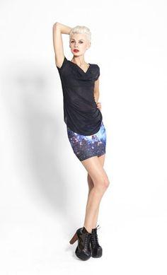 Galaxy Blue Skirt by Black Milk Clothing $22