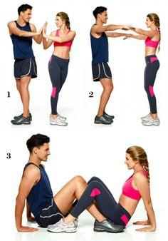 Exercícios com o parceiro ajudam a emagrecer mais rápido, fitness, gym, health, exercises, www.lapartiediva.com.br