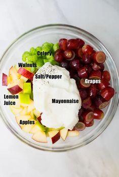 Picnic Salad Recipes, Salad Dressing Recipes, Healthy Salad Recipes, Raw Food Recipes, Cooking Recipes, Original Waldorf Salad Recipe, Best Waldorf Salad Recipe, Guacamole Salsa, Salsa Verde