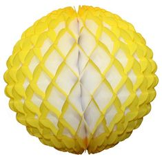 Large 14 Inch Honeycomb Puff Balls (3-Pack) - White Center – Devra Party Art Yellow Party Decorations, Honeycomb, Decorating Tips, Balls, Recycling, Packing, Color, Design, Bag Packaging