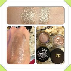 "Maybelline ""Bad to the Bronze"" & Tom Ford ""Platinum""~ The TF is just a nicer consistency, but both are beautiful!"