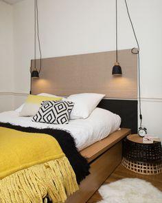 "Rennes : un 120 relooké en une semaine -Appartement Rennes : un 120 relooké en une semaine - Kommode ""Madea"" New Interior Design, Interior Design Living Room, Design Bedroom, Interior Ideas, Modern Interior, Trendy Bedroom, Modern Bedroom, Home Decor Trends, Home Decor Styles"