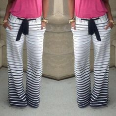 2016 Hot Sale Stripe Comfortable Casual Pants With Belt Pantalones Mujer Plus Size Women Loose Striped Pants Femme Survetement Sports Trousers, Sport Pants, Wide Leg Trousers, Women's Pants, Palazzo Trousers, Yoga Pants, Harem Pants, Spandex Pants, Straight Trousers