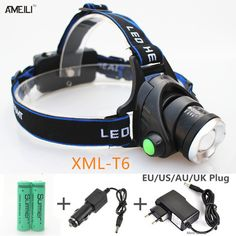 Item specifics Item Type: Flashlights Lumen: 2000 Brand Name: AMEILI Charger: Rechargeable Body Material: Aluminum Alloy Light Source: LED Bulbs Zoom: Yes Wattage: 10W Battery Type: 18650 Waterproof: