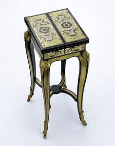 Table by James Nixon, Ebony and boulle marquetry on a carcase of oak with chased and lacquered brass mounts, England, c.1830.
