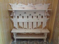 Купить Комплект в предбанник - мебель для бани, деревянная мебель, полка для обуви, вешалка деревянная