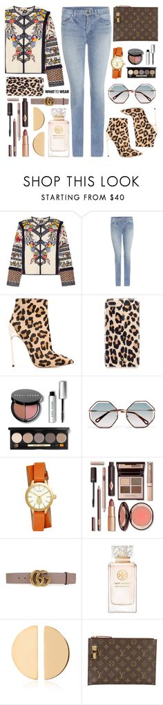"""""""OOTD#30"""" by freshprincesse on Polyvore featuring mode, Tory Burch, Yves Saint Laurent, Casadei, Kate Spade, Bobbi Brown Cosmetics, Chloé, Gucci, Mateo et Louis Vuitton"""