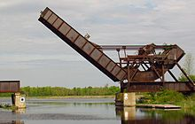 Smiths Falls , ONTARIO, CANADA home of the BASCULE BRIDGE a Canadian National Historic Site.