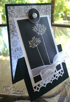 """An """"upside-down"""" easel card. Cool"""