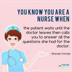 """We played a lil game and asked you to fill up """"You know you are a nurse when..."""". Do you agree with NurseTogether's facebook fan - Brenda Forrest's answer?"""