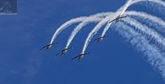 RNZAF Air Tattoo 2017 01 - Seen in this image is The Black Falcons: the aerobatic team of the Royal New Zealand Air Force (RNZAF) - taken at the 80th Anniversary Air Tattoo held at the Ohakea Air Force Base, NZ…