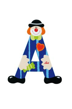 images of the letter a   Letter A Clown -