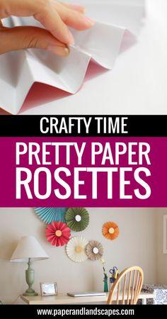 Paper Rosettes - Paper and Landscapes