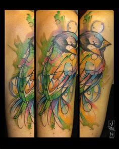 justin nordine tattoo. Watercolor.