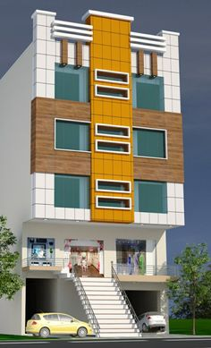 House Elevation, Commercial Design, Multi Story Building, Exterior, House Design, Home, Ad Home, Homes, Outdoor Rooms