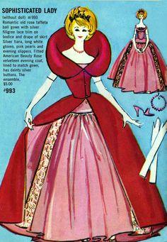 Vintage Barbie Sophisticated Lady Pamphlet Illustration.  I still have the outfit for my Barbie!