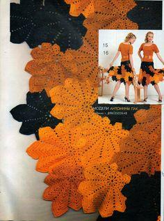 Вязание крючком Crochet : Кленовый лист The maple leaf Crochet